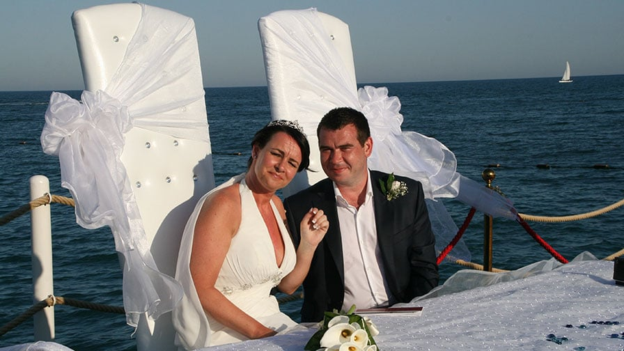 Turkey Beach Wedding Setup