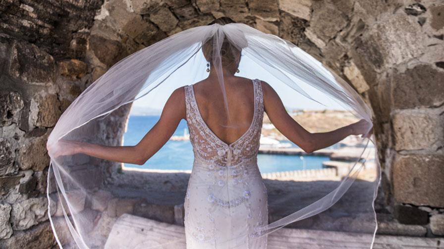 Bride at Bozcaada Turkey