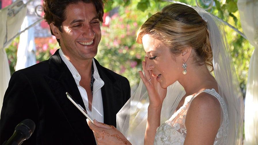 Exchange of Vows at Bozcaada Wedding