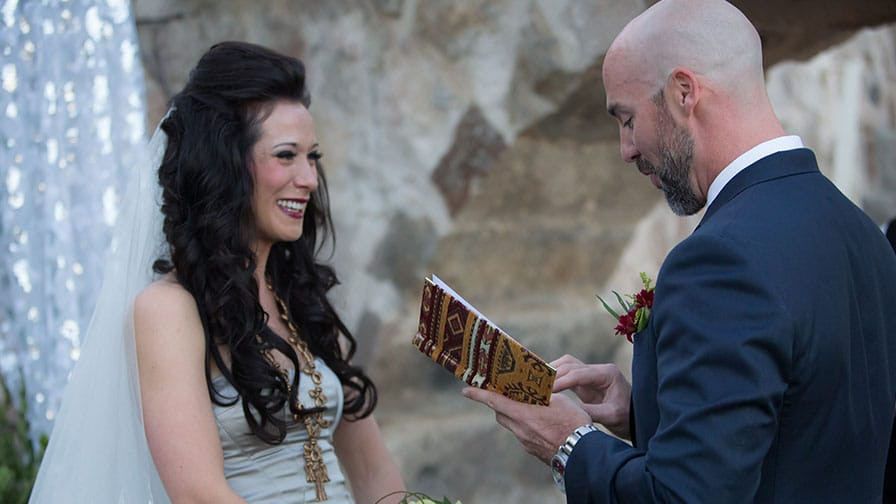 Exchange of Vows at Cappadocia Wedding