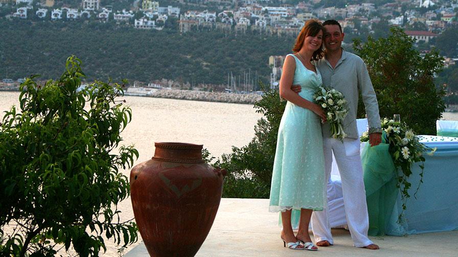 Turkey Kalkan Wedding by the Pool