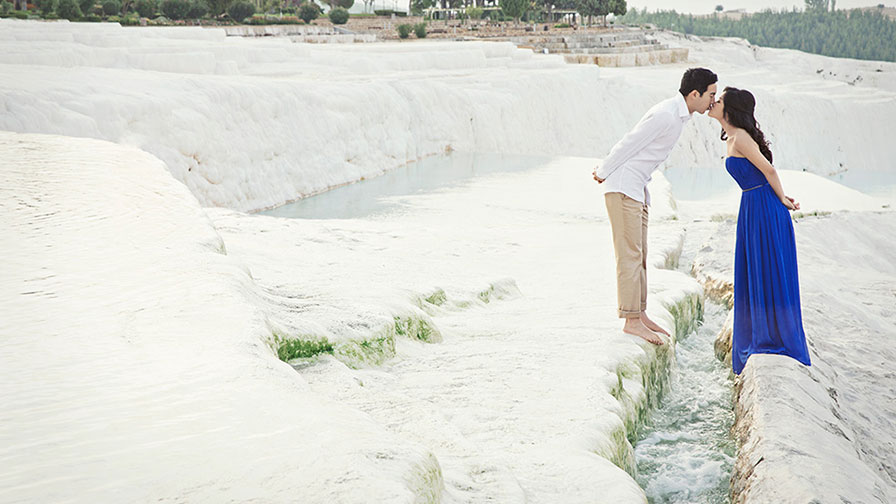 Pre Wedding Photo at Pamukkale Turkey
