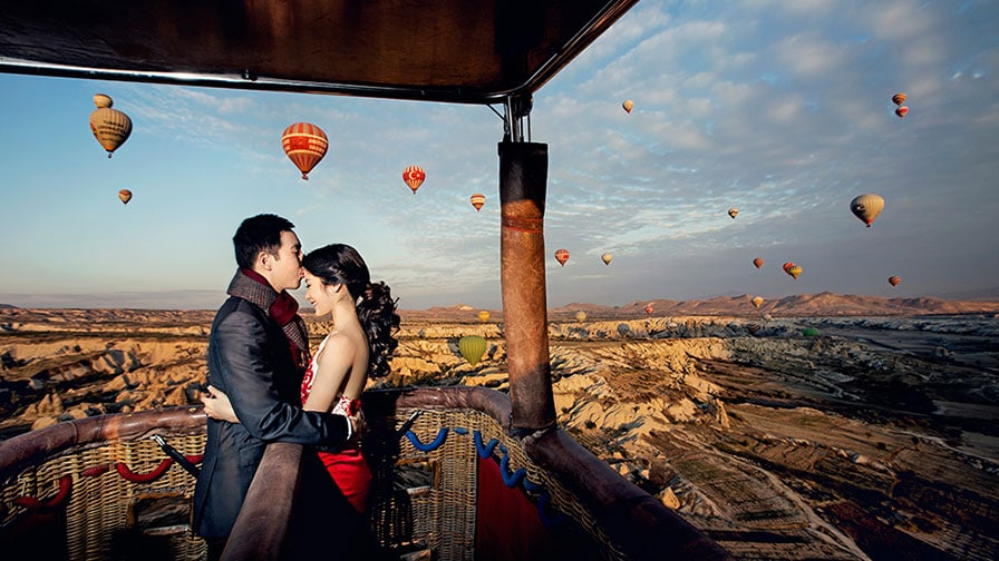 Pre Wedding Photo Shooting on Cappadocia Balloon