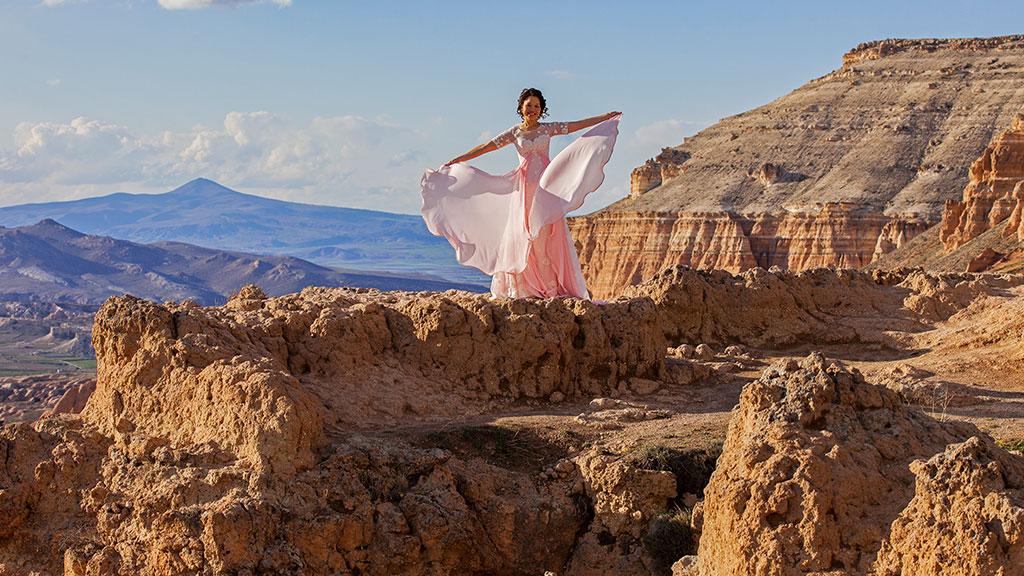 Sunset Wedding Photo Cappadocia
