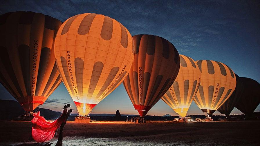 Cappadocia Balloons Wedding Photo