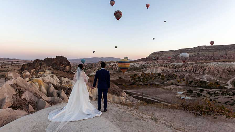 Cappadocia Balloon Wedding Photo