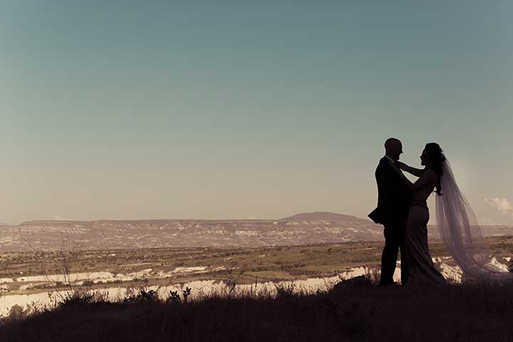 Cappadocia Wedding Couple View