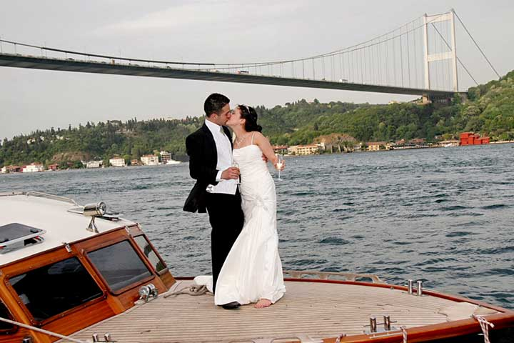 Istanbul Wedding by Bosphorus View