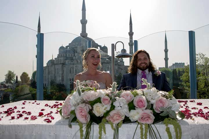 Istanbul Wedding Ceremony Blue Mosque View