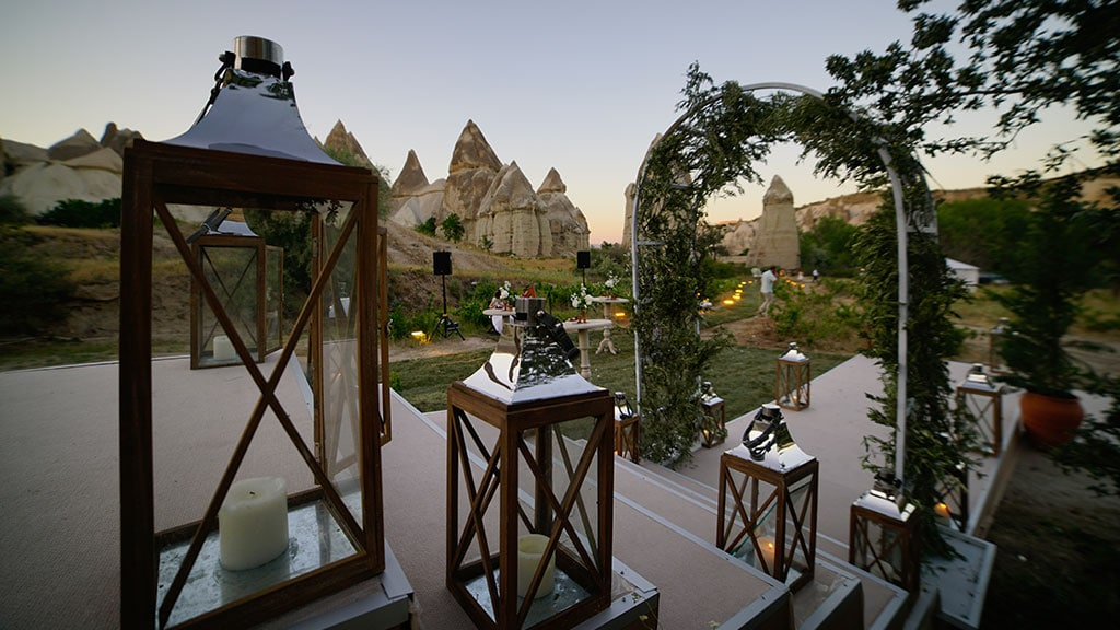 Cappadocia Love Valley Wedding Entrance